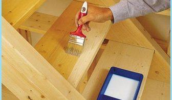 วิธีการทาสีบันไดไม้