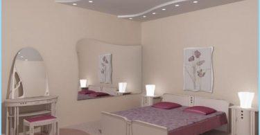 การออกแบบห้องนอนเพดานยิปซั่มที่มีรูปถ่าย