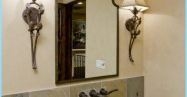 กระจกออกแบบในห้องน้ำ