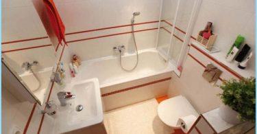 ออกแบบตารางขนาดเล็กที่มีการอาบน้ำ 3 รูป