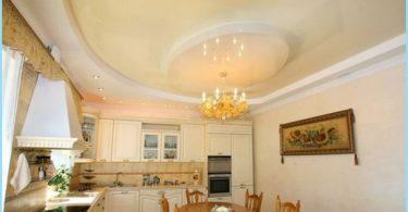 เพดานการออกแบบภาพในห้องครัว