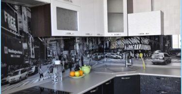 ผ้ากันเปื้อนแก้วสำหรับห้องครัวที่มีรูปถ่าย