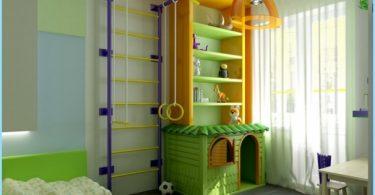 กีฬาพื้นที่ในห้องพักของเด็ก