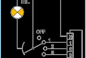 วิธีการเชื่อมต่อพัดลมผ่านการถ่ายทอด