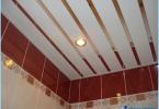 วิธีที่จะทำให้เพดานชั้นวางในห้องน้ำ